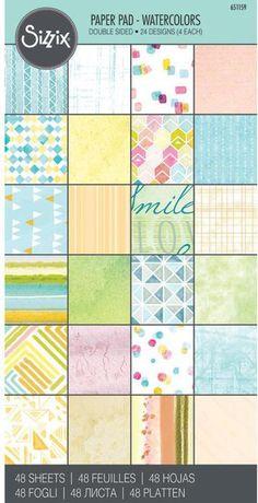 "Sizzix Paper - 6"" x 12"" Cardstock Pad - Watercolors"