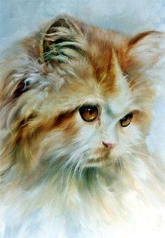 Henriette Ronner Knip Dutch 1821 1909 Cat Art