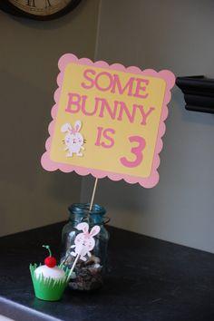 Bunny Birthday Sign Bunny Birthday Some Bunny by GiggleBees, $10.00