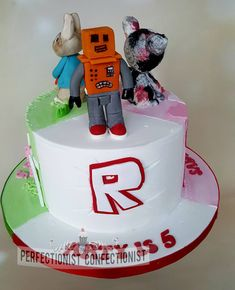 Arty - Roblox Birthday Cake Three cakes in one. Roblox Birthday Cake, 8th Birthday, Birthday Ideas, Cupcake Toppers, Frosting, Custom Design, Boss Baby, Aries, Desserts