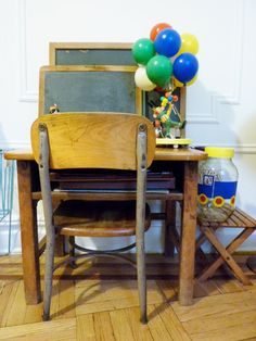 vintage school desk... I need 2 for my kids for Christmas! Lemme know if you see any!