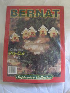 Birdhouse Christmas Pre Cut Felt Ornaments Kit Bernat Makes 5 #Bernat
