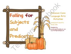 Falling for Subjects and Predicates from Scotts Scoop on TeachersNotebook.com (14 pages)  - Great autumn activity for language work with subjects and predicates.  Use for centers, classroom games, fast finishers and more! Autumn Activities, Art Activities, Classroom Games, Classroom Ideas, Fast Finishers, Subject And Predicate, Teaching Grammar, Language Activities, Third Grade