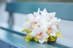 White pink and yellow bouquet