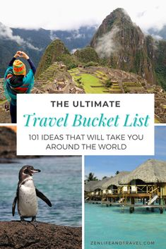 Need some travel inspiration? These 101 travel bucket list ideas will take you around the world with unique experiences of a lifetime. Your next dream vacation is within reach with these incredible activities in the USA, Caribbean, Central and South America, Asia, Europe, Africa, and everything in between. This is the only travel bucket list you'll need. Bucket List Destinations, Travel Destinations, Northern Lights Norway, Swimming Pigs, Indiana Dunes, Places To Travel, Travel Stuff, Travel General, Park In New York