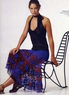 longue jup fleurie Crochet skirt pattern