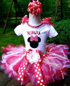 Couture Posh Over the Top Hot Pink Minnie Set-