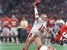 San Francisco 49ers cemented their status as arguably the greatest team in NFL history with a 55-10 rout of John Elway. Joe Montana was at the peak of his tremendous heights, capturing league MVP honors and steering the 49ers to a 14-2 ...