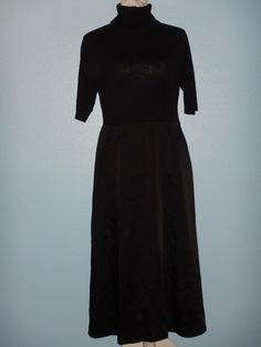 Ann Taylor Petites Turtleneck Dress Merino Wool Acetate Blend Size Large Petite #AnnTaylor #Turtleneck