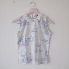 ceb10b4b63a5e Erdem for Topshop's porcelain blue lace collared blouse • is - Depop - 19