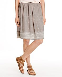 Embroidered Gauze Skirt
