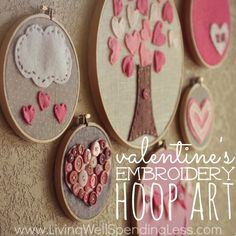 Embroidery Tutorials Valentines Day Embroidery Hoop Art - 40 Cute Projects to Sew for Valentine's Day lots of heart sewing projects, heart quilt patterns and Valentine's Day pillow DIY's Simple Embroidery, Learn Embroidery, Embroidery Hoop Art, Hand Embroidery Designs, Embroidery Patterns, Diy Embroidery Projects, Sewing Projects, Felt Projects, My Funny Valentine
