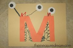 Letter M Craft 2 the measured mom Letter M Crafts for Preschoolers