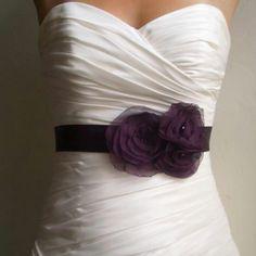 Purple wedding dress detail, absolutely love it