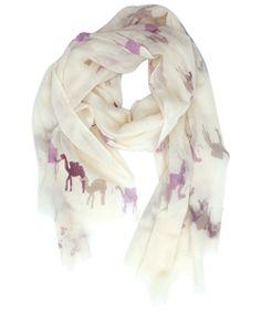 Virginia Johnson, scarf, camel, print