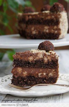 Tort czekoladowo-orzechowy z truflami Fantastyczny czek…