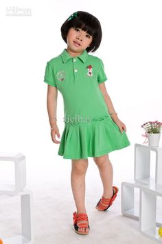 Wholesale Retail amp; 2013 Girl Summer Dress Short Sleeve Solid Color Kids Dress K0385, Free shipping, $11.32-14.63/Piece | DHgate