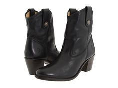 Frye Jackie Button Short Black Soft Vintage Leather - Zappos.com Free Shipping BOTH Ways