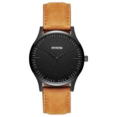 The 40 - Black/Tan Leather – MVMT Watches