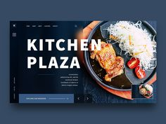 Barbecue Landing page design by DevCRUD on Dribbble Food Web Design, Food Graphic Design, Food Poster Design, Graphisches Design, Menu Design, Banner Design, Layout Design, Web Layout, Design Websites