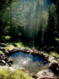 The magical San Antonio Hot Springs - Santa Fe National Forest - outside of Jemez Springs in New Mexico. Natural Swimming Pool