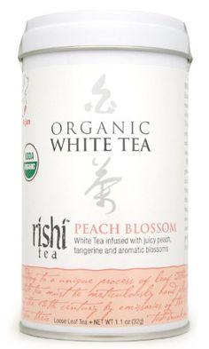 Rishi Tea Organic White Peach Blossom Loose Tea, 1.13-Ounce Box (Pack of 3) - http://mygourmetgifts.com/rishi-tea-organic-white-peach-blossom-loose-tea-1-13-ounce-box-pack-of-3/