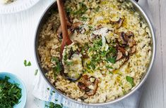 This risotto is packed with rich flavours like salty Parmesan, creamy mascarpone and nutty mushrooms. For more healthy recipes, head to Tesco Real Food.