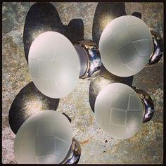 Geometric glass knobs Photo by merlinglass