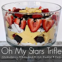 Super Easy Trifle Recipe Memorial Day, Fourth of July or just for fun! This trifle recipe is super easy, super yummy and will be sure to please a crowd!!