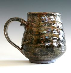 I really like the textures on this Mug. It kind of reminds me of a tree bark.