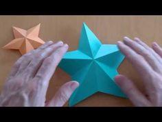 ▶ Wie falte ich einen Pentagramm Stern? Origami Anleitung - YouTube