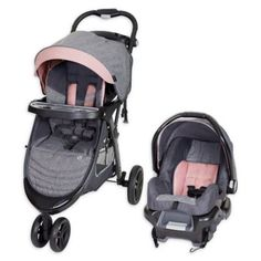 Pink MyChild Nimbus Stroller lightweight and practical with compact fold