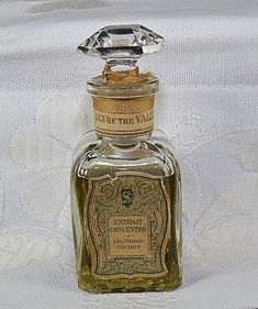 Old Lily of the Valley Perfume Selfridge London Glass Bottle Antique Vintage