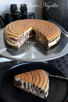 Zebra cake recipe, Zebra Cheesecake recipe @ Not Quite Nigella
