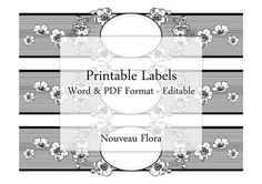 Soap Labels Printable Editable Label Digital by Silvercrystalscouk