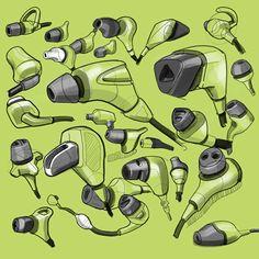 earbud-sketches.png 500×500 pixels
