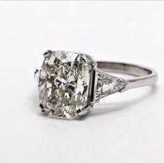 Cushion-cut engagement ring. Wow