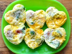 Mini Omelets (She does them in the microwave instead.  That would save me the clean up of the pan and the heat of the oven.)