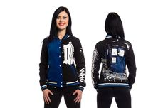 The Doctor Who Varsity Jacket is packing so much style that not even the TARDIS could hold it all, and that's saying a lot because all Whovians know the TARDIS is bigger on the inside. The Doctor might command Time and Space but that elusive ball of fluffy stuff known as Style is all yours. This