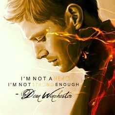 """I'm not a hero. I m not strong enough"" This fan art is very well done. I would love to credit the original artist!"