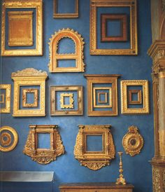 Gold frames evoke a feeling of opulence and wealth - making us feel richer. Hang your favorite artwork in a gold frame for maximum effect.