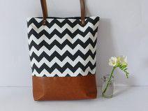 Tasche Canvas Chevron Chevron, Etsy, Vintage, Tote Bag, Bags, Shopping, Fashion, Handmade, Taschen