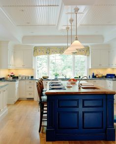 Awesome Royal Blue Kitchen Cabinets