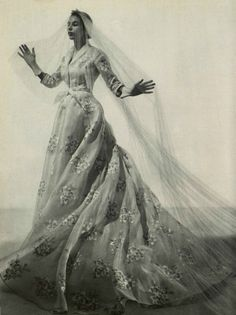 1954 Christian Dior wedding gown