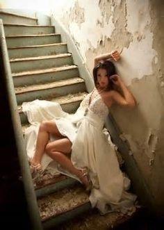 Senior/Industrial/Girl/Modern/Dress/Stairs