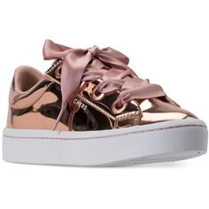 Skechers Women's Hi-Lites Liquid Bling Casual Sneakers from Finish... (1,125 MXN) ❤ liked on Polyvore featuring shoes, sneakers, rose gold, skechers, patent leather sneakers, synthetic shoes, skechers sneakers and metallic sneakers