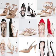 Un poco de inspiración para este miércoles! Los famosos zapatos con tachuelas de Valentino son uno de los accesorios mas usados por las celebridades… No hay duda de que son realmente d…