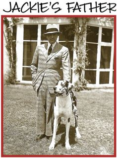Jacqueline Bouvier Kennedy Onassis' Father and Great Dane.