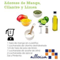 Ya preparaste el aderezo de mango? #recuerda la receta y cuando lo hagas no te olvides de contarnos con qué lo combinaste.