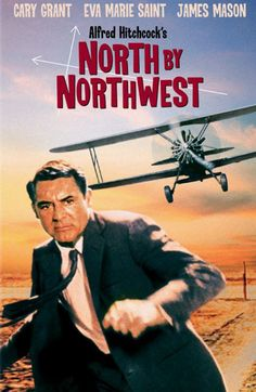 North by Northwest is a 1959 American thriller film directed by Alfred Hitchcock, starring Cary Grant, Eva Marie Saint and James Mason. The screenplay was written by Ernest Lehman. North by Northwest is a tale of mistaken identity, with an innocent man pursued across the United States by agents of a mysterious organization who want to stop his interference in their plans to smuggle out microfilm containing government secrets.